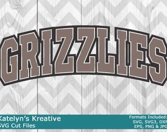 Grizzlies Arched SVG Files