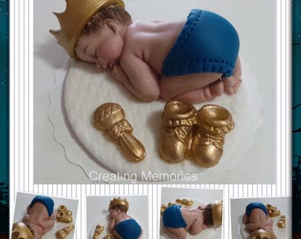 My Little PRINCE - Baby Shower Cake Topper First Birthday decorations ready for your home made cake