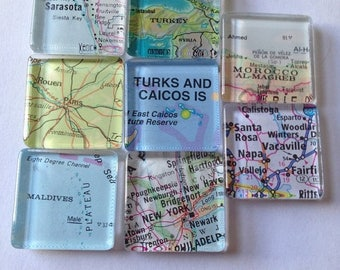 100 Wedding  favors magnets (100 individually wrapped favors) travel theme destination wedding favors