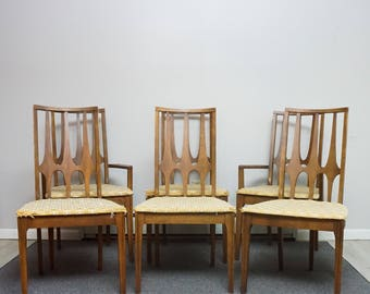 Broyhill Brasilia Mid Century Dining Chairs Set of Six