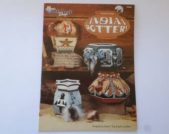 The Needlecraft Shop Plastic Canvas Indian Pottery Instruction book