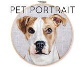 APRIL 2018 Shipment - Custom Pet Portrait Wool Painting Hoop - Choose Size