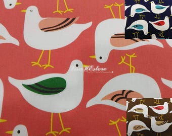 Birds, 1/2 yard, pure cotton fabric
