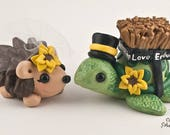 Hedgehog and Turtle cake topper
