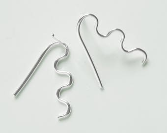 Small Stan earrings, solid Sterling silver
