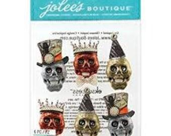 GLITTER SKULLS - Jolee's Boutique Dimensional Stickers
