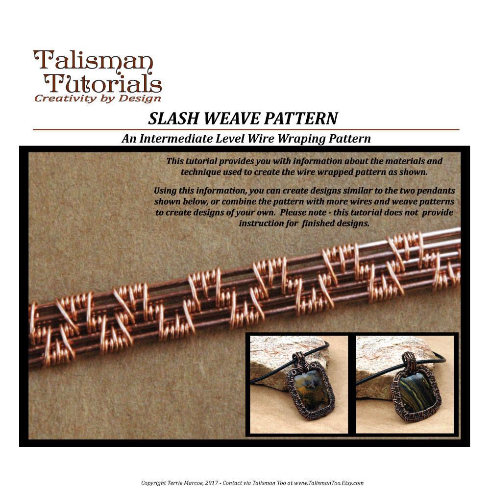 Tutorial  Wire Weaving Pattern Slash Weave Design Wire Wrap