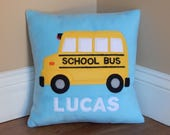 School Bus Pillow