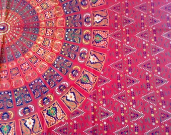 Mandala single bed cover/throw/wall/India/cotton