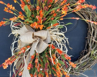 Gorgeous Fall Wreath, Fall Front door wreath, Wreath for front door, Fall Wreath, Front Door Wreaths