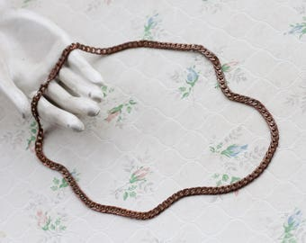 Chunky Chain Necklace - Copper and patina - Modern Cleaopatra