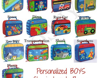 Monogrammed kids lunch box / Personalized kids lunch box / Lunch bag / boys lunch box / Girls lunch Box / 20+ designs