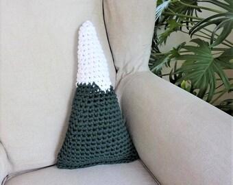 Mountain pillow peaks pillow crochet pillow mountian cushion snow capped mountain pillow mountain peak pillow nursery decor crochet cushion