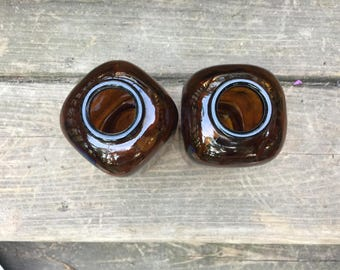 Glass Snuff Jars