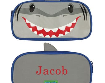 Shark Personalized Pencil Pouch, pencil case, school supplies, gifts for kids, printed, zipper, carrying case, boys -gfyV00031