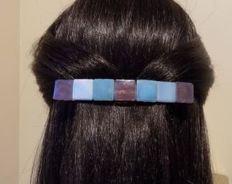 Large Glass Barrette For Thick hair/ Handmade Womans Gift/French barrette