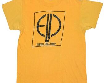 Emerson Lake and Palmer Shirt Vintage tshirt 1970s ELP Greg Lake Keith Emerson Carl Palmer Music Band Progressive Art Rock And Roll