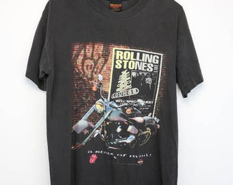 Rolling Stones Shirt Vintage tshirt 1994 Harley Davidson Voodoo Lounge Tour Tee 1990s Mick Jagger Keith Richards Band Classic Rock And Roll