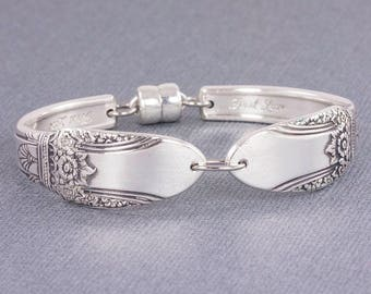 Silverware Bracelet - Spoon Jewelry - First Love Silverware Bracelet - First Love 1937