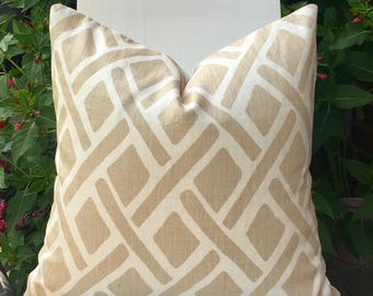 Modern Contemporary Designer Pillow Kravet Treads Linen Pillow Home Accents, PillowSplashStudio