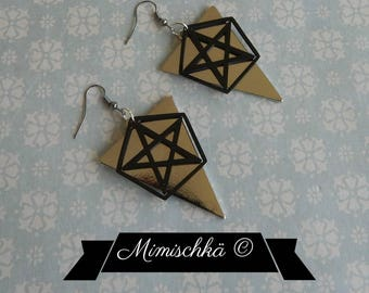 earrings triangle pentacle