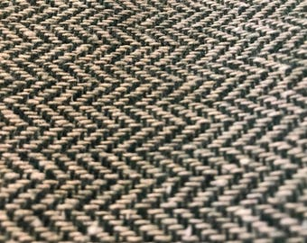 """Green & white fabric tweed upholestry 1 1/2 yds 68"""" wide"""