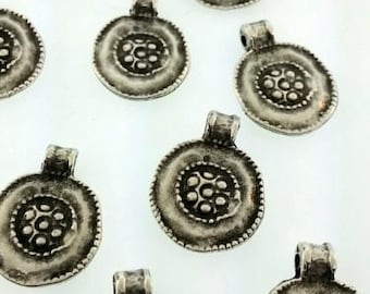 Silver decorative charms