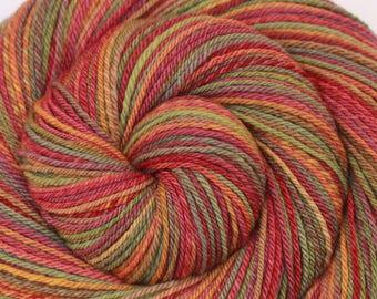 Handspun Yarn, DK weight - AUTUMN STROLL - Ultrafine 15.5μ Merino wool, 334 yds, hand dyed yarn, autumn yarn, gift for knitter, weft yarn