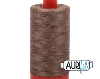 Aurifil Italian Threads-100% Cotton 40wt Piecing and Applique-Large Spool 1092 Yards-2370 Sandstone