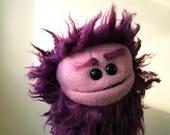 Maroon Monster Creature Hand Puppet