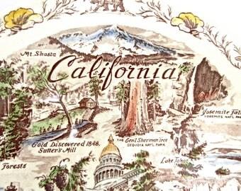California Plate - Vernon Kilns - Collector Plate - State of California