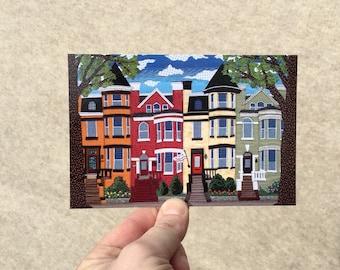 "Postcard ""Bloomingdale"", 4x6 inches, high gloss, UV protection, professionally printed, Washington DC postcard"