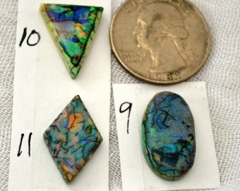 Sterling Opal cabochons 9, 10, 11 each sold separately