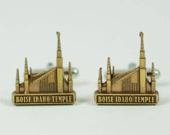 Boise Idaho Temple Cufflinks