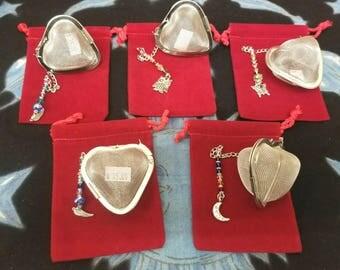 Heart Shaped Embellished Tea Infusers