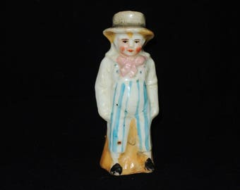 Victorian Ceramic Figural Hat Pin Holder