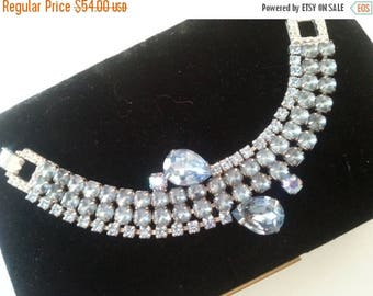 Now On Sale Stunning Rhinestone Bracelet 1950's Hollywood Regency Mad Men Mod 60's Style Retro Collectible Jewelry