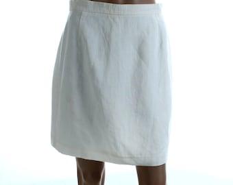 Vintage 80s Betty Barclay Light Cream Mini Short Mini Skirt UK 12 US 10