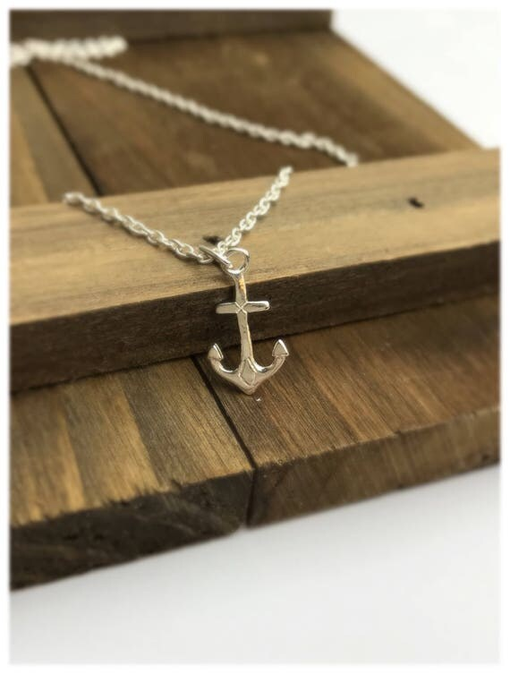 Tiny Anchor Necklace - Sterling Silver