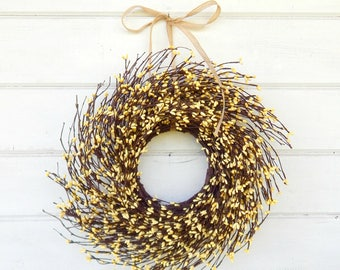 READY to SHIP-Mini Wreath-Yellow Wreath-MINI Twig Wreath-Yellow Mini Window Wreath-Wreaths-Baby Gift-Its a Girl-Pink Decor-Wall Decor-Gifts
