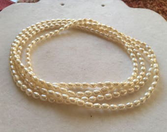 """Continuous Strand of Fresh Water Pearl Necklace 44"""""""