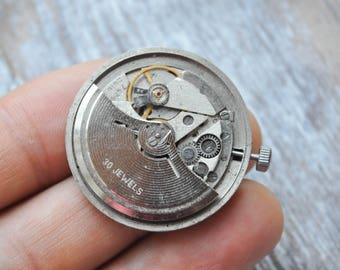 POLJOT Vintage Soviet Russian wrist watch movement.