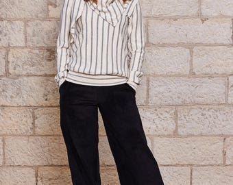 Striped scarf winter 2016 SONGO top