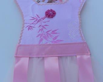 Light Pink Brocade Barrette Holder