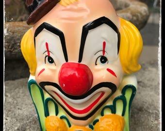 1950's Rubens ceramic clown planter