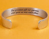 READY TO SHIP ~ Sister Jewelry / Brother Jewelry - The greatest gift our parents ever gave us was each other ~ Birthday Gift