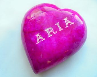 Stone Heart, Engraved African Marble