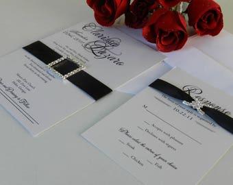 Wedding Invitations, Romantic Wedding Invites, Charming Wedding Invitations, Elegant Wedding Invites, Script Wedding Invitations - Deposit