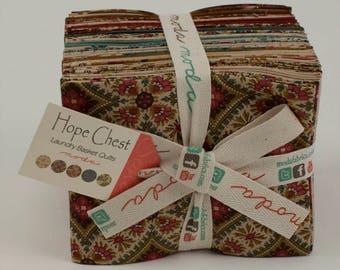 Hope Chest Prints Fabric Collection by Laundry Basket Quilts for Moda Fabrics - 1 Fat Quarter Bundle of 24