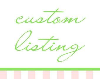 Bridal Order for Cara